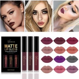$enCountryForm.capitalKeyWord NZ - Lip gloss Lip Tint Cosmetic Lipstick Lipgloss Pigment Sexy Matte Liquid Lipstick Makeup 3 colors
