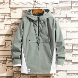 Korean clothes sport online shopping - Zogaa New Men Tooling Jacket Autumn Male Hip hop Loose Casual Jacket Korean Version Self cultivation Student Sports Clothes