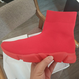 Red Gear Racing Australia - Designers Sock Shoes Pure Red Fashion Casual Shoe Speed Trainer Sneakers Speed Trainer Sock Race Runners Outdoor Gears On Sale2019