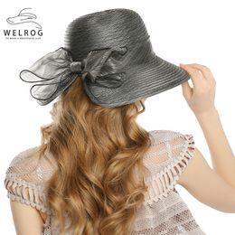 $enCountryForm.capitalKeyWord Australia - WELROG Fedoras Hats for Women Lady Fascinator Elegant Yarn Cap Autumn Cloche Hat Bow Bucket Wedding Bowler Hats