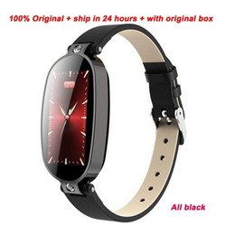 wholesale italian leather Canada - B79 Smart Watch smart wristband ECG PPG Blood Pressure Heart Rate Monitor Activity Tracker Bluetooth Lady Wristband With Leather Band