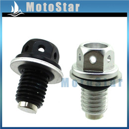 quad bike wholesale Canada - M12 x 1.50mm Pitch Magnetic Oil Drain Bolt Plug Screw For 50cc 70cc 90cc 110cc 125cc Pit Dirt Monkey Bike ATV Quad CRF50 XR50