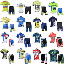 jersey cycling saxo green 2019 - SAXO BANK TINKOFF team Cycling Short Sleeves jersey shorts sets Breathable Bike Clothing Quick-Dry Bicycle Sportwear Rop