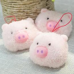 Cute Pig Pendant Australia - Girls Keychain Pendant Dolls Gift Cute Cartoon Pink Pig Decor Baby Plush Toys Mini Piggy Stuffed Toys