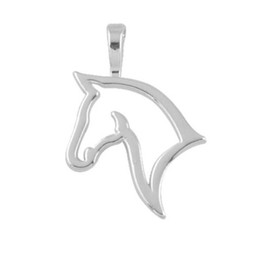 $enCountryForm.capitalKeyWord NZ - JF096 Customized Rhodium Plated Animal Lucky Horse Head Accessories Charms Pendant DIY Jewelry for Bracelets and Necklaces