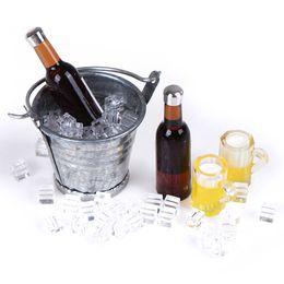 $enCountryForm.capitalKeyWord Australia - Miniature Beer Bottle Bucket Ice Cube Cups Play Dollouse Furniture Toy 1 12 Scale