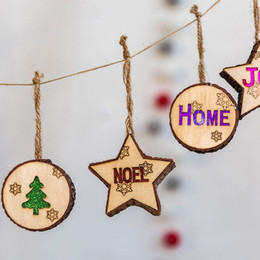 $enCountryForm.capitalKeyWord UK - Christmas Wooden Stars Shaped Small Pendant Wooden String Ornaments Christmas Lights