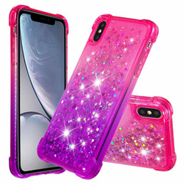 plate fittings 2019 - Shockproof Quicksand Soft TPU Case For Iphone XR XS MAX X 8 6 Touch 7 6 5 Metallic Heart Gradient Chromed Bling Liquid P