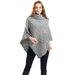 $enCountryForm.capitalKeyWord Australia - New Women Sweater Poncho Cardigan Pull Femme Pullover Winter Warm Tricot Vintage Pullover Casual Shirt Fashion European Style