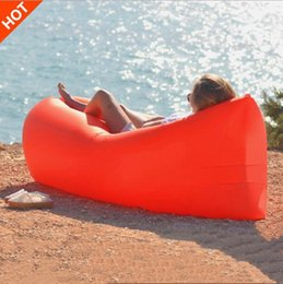 lounging chairs living room Canada - Inflatable Beanbag Sofa Lounge Sleep Bag Lazy Chair, Living Room Bean Bag Cushion Outdoor Self Inflated Beanbag Furniture