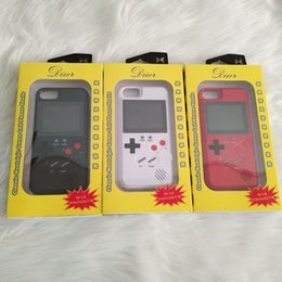 Iphone cases dIsplay online shopping - Full Color Display D GameBoy Phone Case for iPhoneX s Plus X Classic Retro Tetris Game Cover for iPhone XSMAX Coque