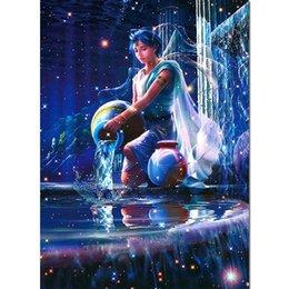 5d Pintura Diamante menino Broca Cheia Dos Desenhos Animados Pintura Diamante água primavera sonho Diamante Bordado Elf Mosaico Arte Home Decor Z19 venda por atacado