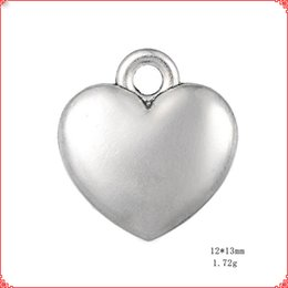 $enCountryForm.capitalKeyWord Australia - 50pcs Antique vintage Tibetan silver simple plain heart charms metal dangle alloy pendants for necklace bracelet earring diy jewelry making
