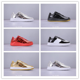 classic football sale Australia - 2019 Cheap Sale Forces Mens Womens Bright Skin Low Band White Black Multicolor Sports Skateboarding Shoes Classic Leather Surface Sneakers