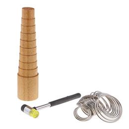$enCountryForm.capitalKeyWord Australia - 3 Pieces Set Wood Step Bracelets Mandrel Sizer + Metal Ring Sizers + Hammer,For Adjust Gauge Measure Bangle Sizing,Jewelry Mak