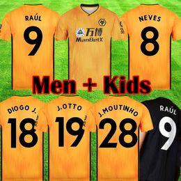 China 2019 2020 Wolves RAUL NEVES Soccer Jerseys Adult Kids 19 20 Wolverhampton Wanderers football shirts Doherty DIOGO J maillots de foot cheap short j suppliers