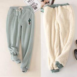 Women Warm Winter Thick Trousers Australia - YANMUXI Hot New Fashion Women's Autumn And Winter Thick Velvet Pants Warm Trousers Black Gray Green M-XXL Loose