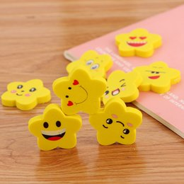 $enCountryForm.capitalKeyWord Australia - Creative cartoon star expression eraser environmental learning stationery rubber student children prize gift eraser