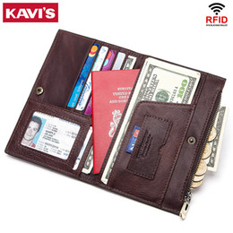 $enCountryForm.capitalKeyWord Australia - Kavis Rfid Genuine Leather Passport Cover Id Card Holder Travel Credit Wallet Men Purse Case Driving License Bag Male Portomonee J190702