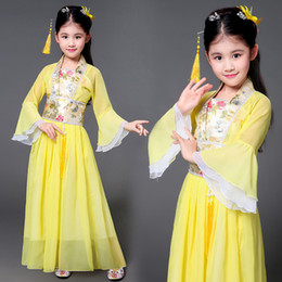 Chinese ladies Clothes online shopping - Children s Ancient Perform Costume Fairy Lady Dress Tang Dynasty Ancient Little Princess Princess Chinese Clothes Dance Wear