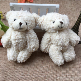 small christmas teddy bears 2021 - 50PCS LOT Kawaii Small Joint Teddy Bears Stuffed Plush With Chain 12CM Toy Teddy-Bear Mini Bear Ted Bears Plush Toys Gifts Christmas gif