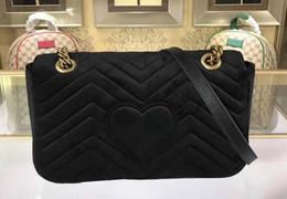 $enCountryForm.capitalKeyWord Australia - DHL Free Ship 5A Qaulity 26cm 443497 Marmont Chevron Velvet Shoulder Bag,Sliding chain strap Antique hardware,Silk Lining,with Dust Bag+Box