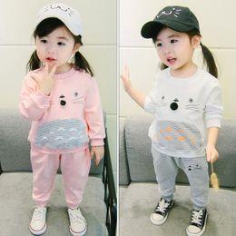 $enCountryForm.capitalKeyWord Australia - Baby Girls Clothing 2019 Explosion Models Fashionable Korean Version of The Cartoon Cotton Two-piece Foreign Cute Sportswear