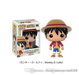 wholesaler chopper toys UK - China Super Funko POP Luffy Tony Tony Chopper Trafalgar`Law Ace Action Figures PVC Anime Toys Japanese Cartoon Doll Toys For Collection 10cm