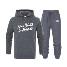 $enCountryForm.capitalKeyWord Australia - New 2019 Brand Tracksuit Fashion printed Men Sportswear Two Piece Sets All Cotton Fleece Thick Hoodie+Pants Sporting Suit Male