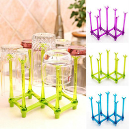 $enCountryForm.capitalKeyWord Australia - Water Glass Storage Rack Foldable Bottle Cup Dry Rack Storage Portable Folding Rack Dry Travel Water Mug Drainer Cup Stand