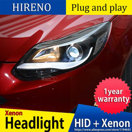 focus drl led NZ - Car Styling 2012 2013 2014 for Focus LED Headlights fpr New Focus 3 DRL Lens Double Beam H7 HID Xenon bi xenon lens