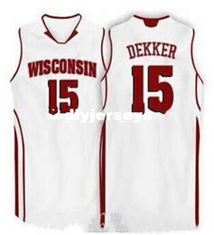 badgers jersey 2019 - Factory Outlet Cheap custom #15 Sam Dekker Wisconsin Badgers college Basketball jerseys Embroidery Stitched Personalized
