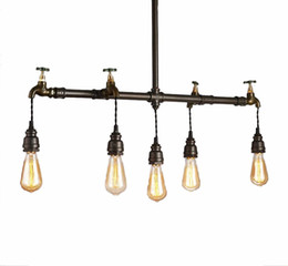 $enCountryForm.capitalKeyWord UK - Loft Vintage Water Pipe Chandelier Iron Art Chandelier Restaurant Bar Decoration Chandelier Edison Retro Pendant Lights