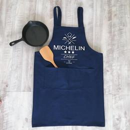 Cotton Cloth Apron Australia - Simple sleeveless cloth home cotton canvas kitchen baking apron men and women solid color