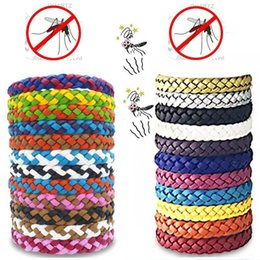 Boys Bracelet weave online shopping - Mosquito Repellent Leather Bracelet Anti mosquito Woven Wristband Insect Repellent Band Pest Control Bug Insect Protection Bracelet A5904