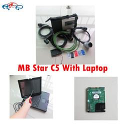 2017 Yeni Mb Yıldız c5 Sd Teşhis Aracı + MB SD C5 Bağlayın Yazılım V2016.12 250 gb HDD sabit sürücü + NEC Laptop Dokunmatik ekran