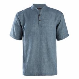 $enCountryForm.capitalKeyWord UK - Dioufond 2018 Summer Men Short Sleeves Slim Fit Shirt Causal Style Male Mandarin Collar Tops Button Solid Men Fashion Shirt