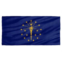 $enCountryForm.capitalKeyWord UK - Indiana Flag Licensed Beach Towel 60in by 30in Men Women Unisex Fashion tshirt Free Shipping black