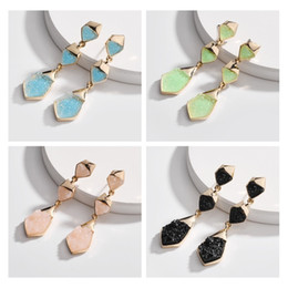 $enCountryForm.capitalKeyWord Australia - Kendra Style Druzy Drusy Charms Earrings Multilayer Jelly Resin Druse Stud Women Brand Jewelry Wholesale 2019