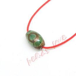 Mala Beads Free Shipping Australia - eye bead Hot!!! Approx12mm*8mm Prayer Mala Tibetan Mystical Dzi 3 Green Eyes Beads 2pcs lot DIY necklace Gift Free Shipping(w03461)