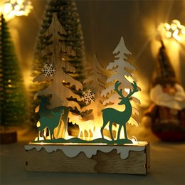 Christmas Ornament For Tree Australia - Xmas Ornaments LED Light Christmas Decorations For Home Elk Ornaments Hotel Bar Christmas Tree Decoration Navidad 40DC6