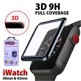 Film de protection d'écran 3D pour Apple Watch 38mm 40mm 44mm 42mm 9H Verre Trempé Couverture Complète pour iWatch Série 4 321 en Solde