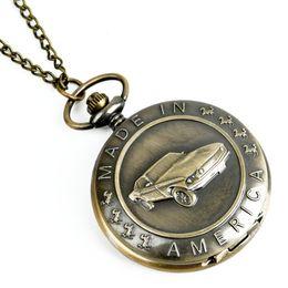 $enCountryForm.capitalKeyWord Australia - unisex big Antique Car Pocket Watch Classic Carving Pendant Chain Cool Men Clock Best Gifts unisex retro mens nacklace watches
