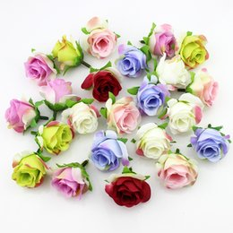 wholesale silk white rose ball NZ - 20pieces 3-4cm Artificial silk Rose flower Head Scrapbooking Flowers Ball For Wedding Decoration T191029