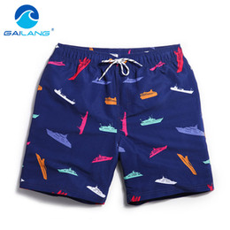 Wholesale fitness board shorts resale online - Gailang Brand Men Beach Shorts Board Boxer Trunks Shorts Bermda Casual Bottoms Plus Big Size Fitness Quick Drying Active