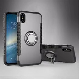 Solid Iphone Cases Australia - Cell Phone Cases TPU+PC grey SOLID COLOR Clip Bracket Shatter-resistant Shell New for Iphone XR XS XS MAX X 7P 8P 7 8 Samsung Huawei OPP Bag
