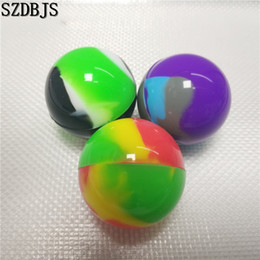 $enCountryForm.capitalKeyWord Australia - Free Shiping 100Pcs Lot Silicone Ball Container Nonsolid Color Pure Color Non-stick For Wax Bho Oil Vaporizer Silicon Jars Dab Wax Container