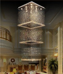 $enCountryForm.capitalKeyWord NZ - Crystal Chandelier Duplex Staircase Rectangular Simple Modern Villa Building Middle Floor Hall led Long Living Room Chandelier