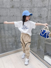 Korean Classic Suits Australia - Girls'Short Sleeve T-shirt, New Summer Suit, White Korean Version, Loose Cotton Girls' T-shirt Top 0346