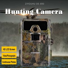 video hunting cameras UK - ZIYOUHU 2'' LCD Display Screen Image Video Records Digital Infrared Hunting Camera for Wildlife Observation Day & Night Monitor
